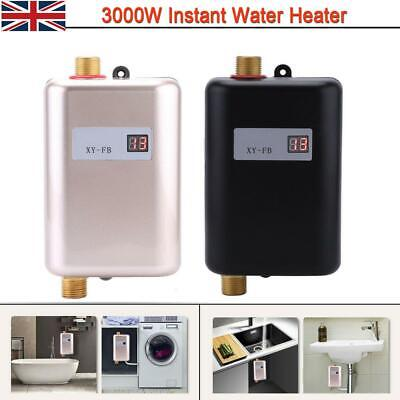 3KW Mini Electric Tankless Water Heater Instant Hot Under Sink Kitchen Bathroom
