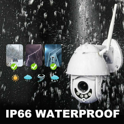 Wireless Outdoor Dome CCTV HD 1080P WIFI IP Camera Security IR Cam Waterproof UK