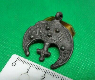 Ancient Viking  amulet moon  Kievan Rus 10-12 century AD 1