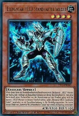"YUGIOH!! ""Elemental HERO Solid Soldier"" CT15-EN003! Ultra Rare! NM! 1. Edition!"