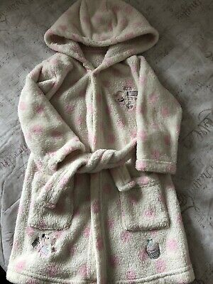 Baby Girls 12-18 Months Lovely Pink Mouse Fluffy Hooded Dressing Gown