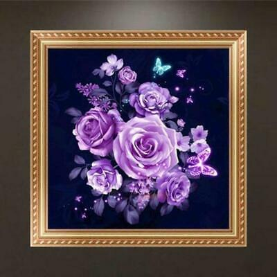 5D DIY Sewing Cross Stitch Flower Artificial Diamond Painting Pictures EH7E 03