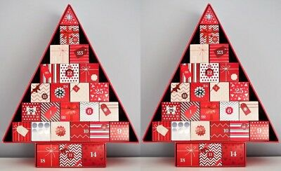 2 x M&S EMPTY Beauty ADVENT Calendar XMAS Calender TREE Shape~ MARKS and SPENCER