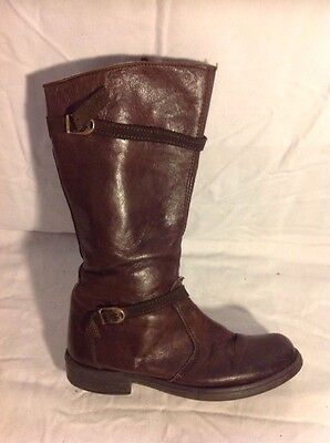 Girls Jones Boot Maker Brown Leather Boots Size 33