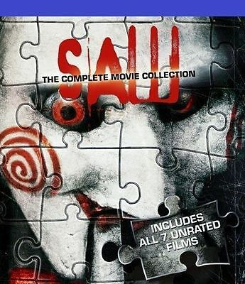 Saw-The Complete 1 -7 UNRATED Movie Collection Box Set -Blu ray - BRAND NEW