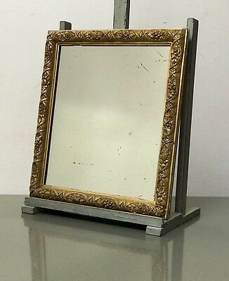 Antique English Mirror. Gilded Gesso. Late 19Th C. Original Glass.