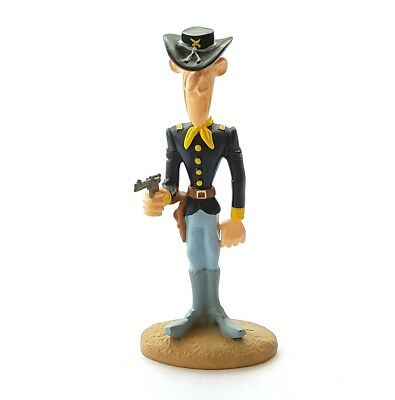 Figurine Atlas LUCKY LUKE 2003 d/'après Marie LEBLON Lucky Luke tirant 2 colts