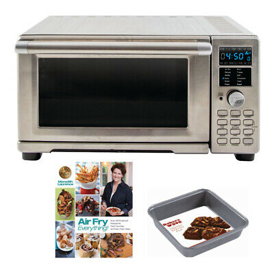 NuWave Bravo XL Air Fryer Toaster Oven with Air Fry Cookbook and Square Pan
