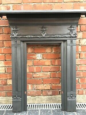 Antique Art Nouveau Cast Iron Fireplace / Fire Surround - Uk Delivery
