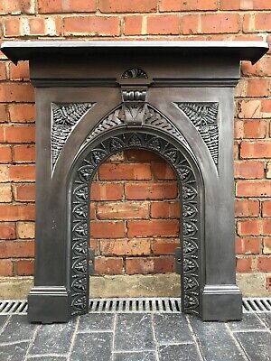 Antique Cast Iron Period Fireplace / Fire Surround Arched - Uk Delivery