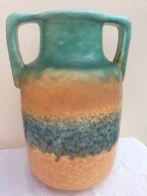 Art Deco Ruskin Pottery Howson Taylor Egyptian Range Large Two Handled Vase