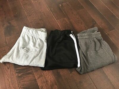 **SALE** Bundle Of 3 Zara H&M Track Bottoms Cotton Neoprene Trousers Men Size
