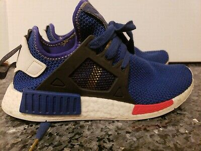 4084cb433 Adidas NMD XR1 Nomad Boost Mystery Blue Vivid Red White Black AC7185 size  8.5