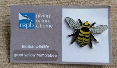 * RSPB PIN BADGE * Great Yellow Bumblebee * New Design for Spring 2019 *