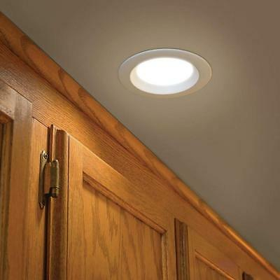 Commercial Electric 4 in. White Recessed LED AC Metal Downlight w/ 10 Watts