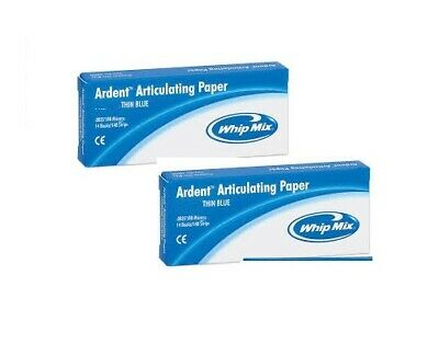 Whip Mix Ardent Articulating Paper XX Thin Blue LOT OF TWO (2)!
