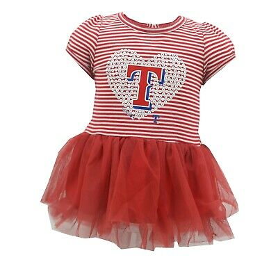 OFFICIAL *NWT BABY GIRL/'S TEXAS RANGERS 2-PC SKIRT OUTFIT SET MLB
