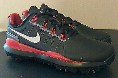 uk availability 42feb 71dca Nike TW 14 Tiger Woods Golf Shoes Black Red 599416-001 - Men s 9.5 -