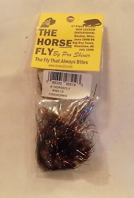2 Magna Dyne The Horse Fly Trolling Fly Fireworks 985-19 NIP