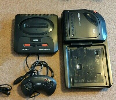 Sega Mega CD II & Mega Drive II with 2 games