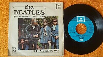 """THE BEATLES Let it be / You know my name 7"""" SINGLE Spanish Collection 1970"""
