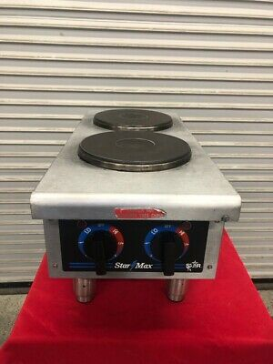 2 Burner Electric Hot Plate Countertop Cook Table Top Stove Star 502 #1825 NSF