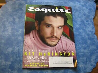 ESQUIRE MAGAZINE May 2019 KIT HARINGTON GAME OF THRONES EXCLUSIVE PERSONL PHOTOS