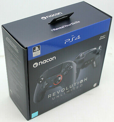 Nacon Revolution Unlimited PS4 Wired or Wireless Pro Controller Playstation 4