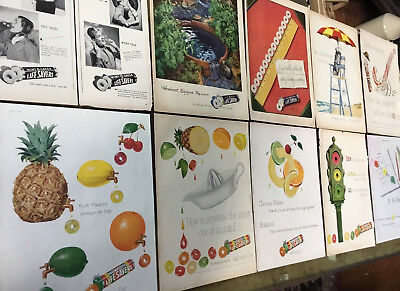 Lot Vintage ADS / ADVERTISING ~ LIFE SAVERS ~ Peppermint ~ Five Flavor Print Art