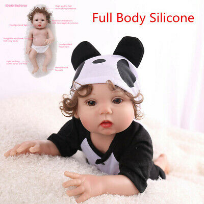 "16"" Realistic Reborn Baby Doll Full Body Silicone Anatomically Xmas Gifts Dolls"