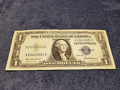 1935 F $1 Dollar Bill Old Us Paper Money Currency Blue Seal