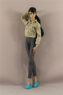 Fashion cool  Outfit Jacket Top+ tight pants trousers = For 11.5in.Doll