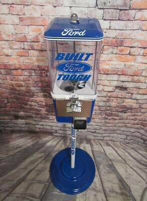 vintage gumball machine FORD theme candy machine with metal stand free ship