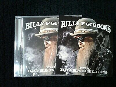 Billy F Gibbons - The Big Bad Blues CD, autographed/signed booklet NEW SEALED