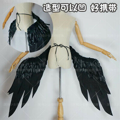 Anime Overlord Albedo Demon Black Cool Wings Halloween Cosplay Props Handmade