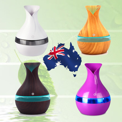 Diffuser Humidifier aroma Lights Air Aroma Essential home Wood for Grain LED Oil
