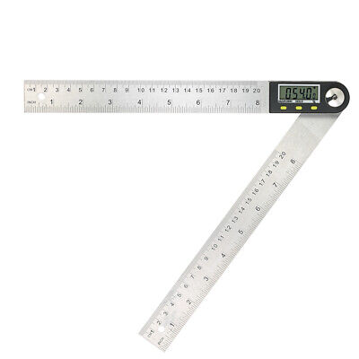 0-200mm/8 inches Stainless Steel Digital Protractor Angle Finder Ruler O0D4