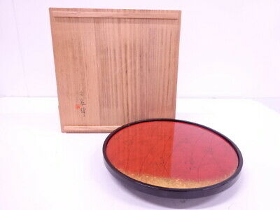 4149967: Japanese Tea Ceremony / Lacquered Sweets Bowl / Artisan Work