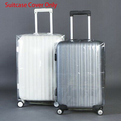 "20-28"" Clear PVC Waterproof Travel Luggage Protector Suitcase Dust Cover Case"