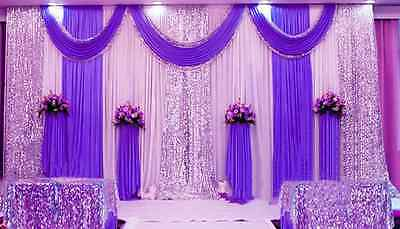 20x10ft Wedding Stage Decorations Backdrop Party Drapes Swag Silk Fabric Curtain