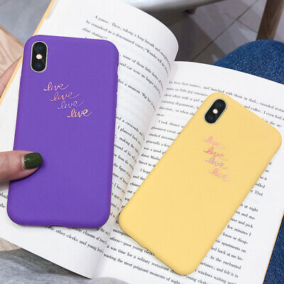 Simple Liquid Silicone Rubber Soft Case Cover For iPhone XS Max XR X 8 6s 7 Plus