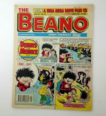The Beano 7th August 1993 Collectable Childrens Humour Humor Comic Magazine *