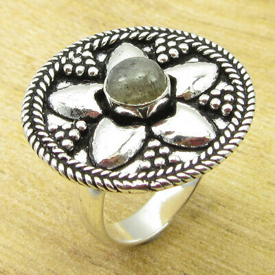 925 Silver Plated Rare Labradorite STUNNING Ring Size 6 ! Discount Jewelry NEW