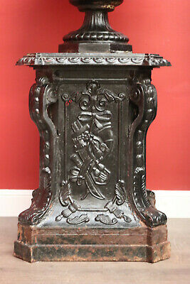 Antique Cast Iron Pedestal Plant Stand Planter Support Garden Ornament 2 of 2