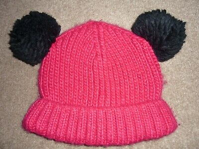 CUTE GIRL'S COSY 'RED MIX' HAT, AGE 10 - 14 YEARS, by Marks & Spencer