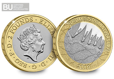 2019 UK D-Day CERTIFIED BU £2 Coin