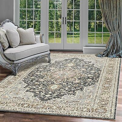 Blue Black Cream Bedroom Area Rugs Persian Flowers Geometric Area Carpets Mats
