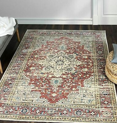 XL Geometric Area Mats Traditional Persian Rugs Oriental Floral Carpets Runners