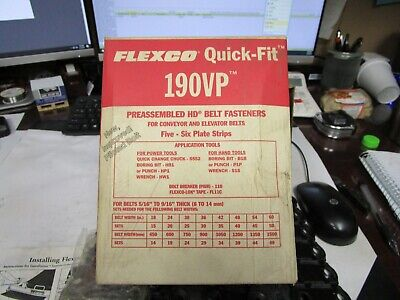 Flexco Quick-Fit Pre-Assembled Rubber Vulcanized  Plate Steel Belt Fasteners 190