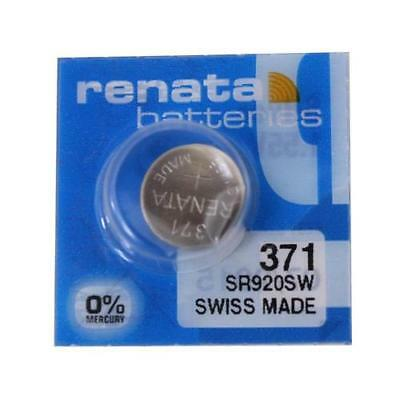 Renata 371 Swiss SR920SW 1.55v Silver Oxide Watch Coin Cell Batteries Swiss Made